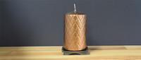 Unscented Bronze Pillar Candle