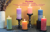 "Pilares Rustic Pillars - Size: 2.75"" x 4"" (Price per pair)"
