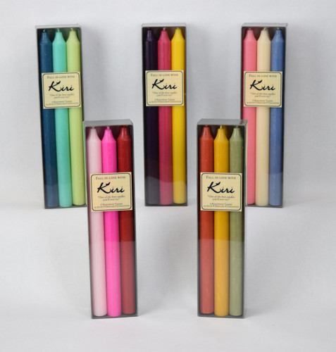 "12"" 6-Pack Mix Sets Danish Kiri Tapers"