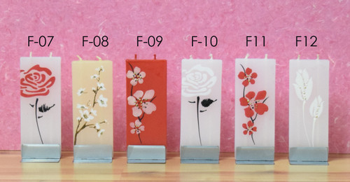 FLATYZ Decorative Flat Candles - Flower Collection II