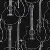 Gift Wrap - Guitars - Black