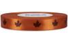 Brown Leaf on Mandarin Ribbon - Double Faced Satin Symbols