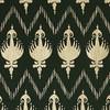 Gift Wrap - Ikat - Hunter Green/Metallic Gold