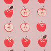 Gift Wrap - Apples - Mauve/Red/ Metallic Silver