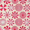 Gift Wrap - Peppermint - Cream/Red/Iridescent Glitter
