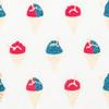 Shaved Ice – Cream/Cyan Blue Glitter/Red & Cream Metallic