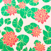 Gift Wrap - Water Lilies -  Pink/Metallic Pink, Green and Gold