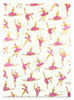 Gift Wrap - Ballerina - Cream/Metallic Gold and Pink Glitter