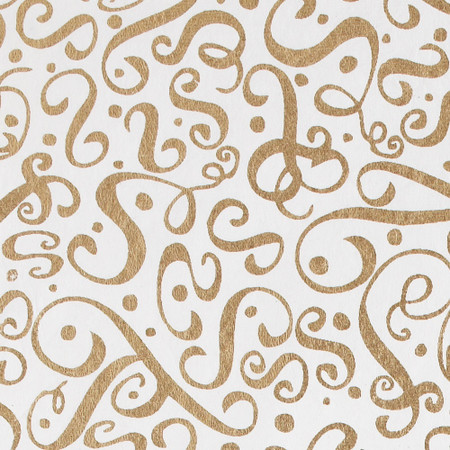 Gift Wrap - Flourish - Gold