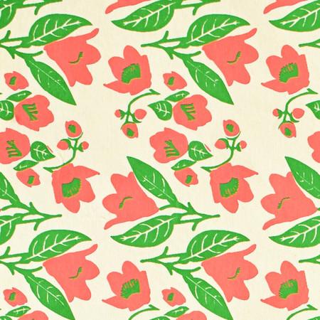 Gift Wrap - Bellflowers - Cream