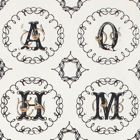Gift Wrap - Alphabet - Cream