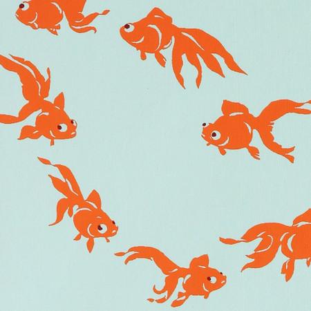 Gift Wrap - Goldfish - Blue