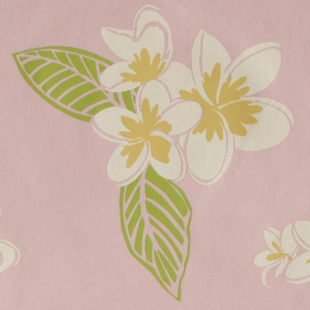 Gift Wrap - Plumeria - Pink