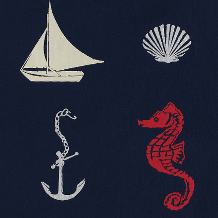 Gift Wrap - Nautical - Navy