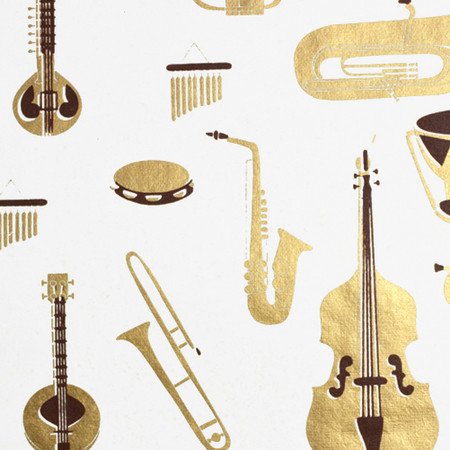 Instruments - Cream/Metallic Gold and Brown