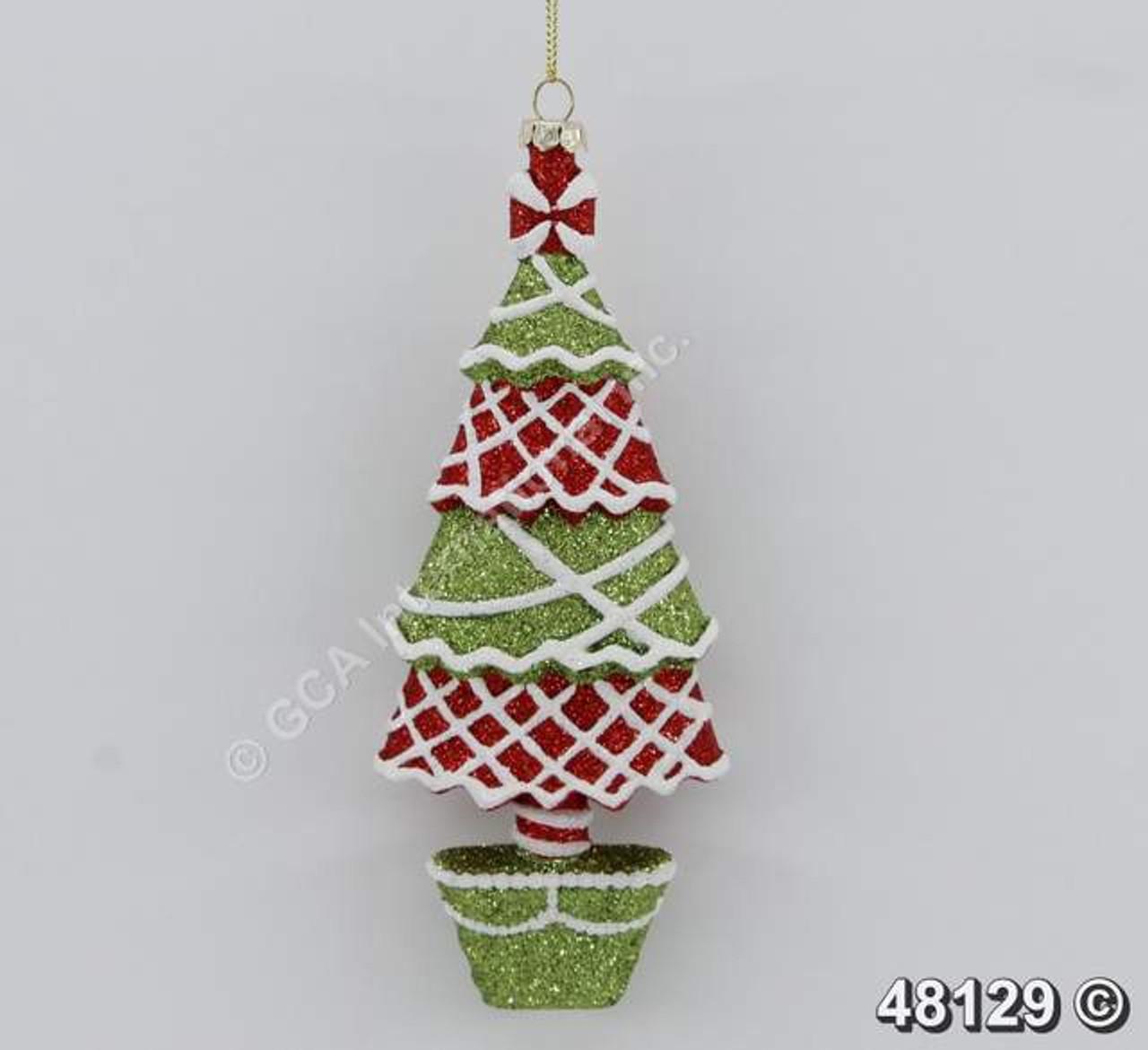 "[48129] 7""plastic Christmas tree ornament"