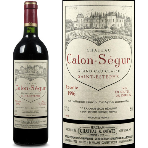 Chateau Calon Segur St. Estephe 1996