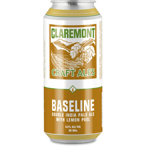 Claremont Baseline Double India Pale Ale 16oz 4 Pack Cans