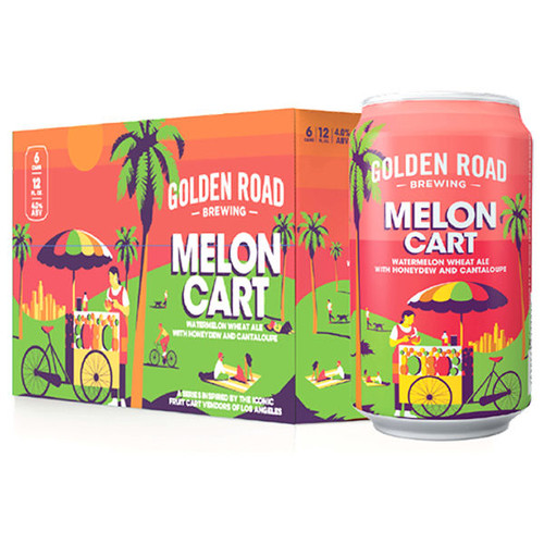 Golden Road Melon Cart Watermelon Wheat Ale 12oz 6 Pack Cans