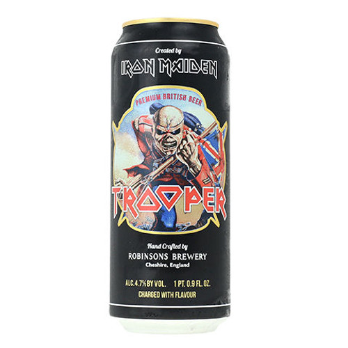 Iron Maiden Trooper Beer (England) 4 Pack 16oz Cans