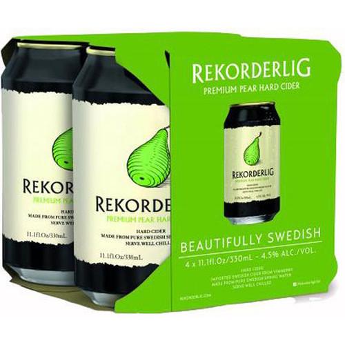 Rekorderlig Premium Pear Cider 12oz 4 Pack Cans
