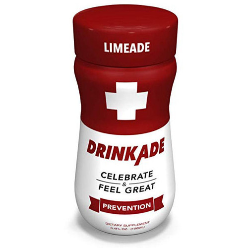 DrinkAde Hungover Prevention 4 Pack 3.4oz (RED)