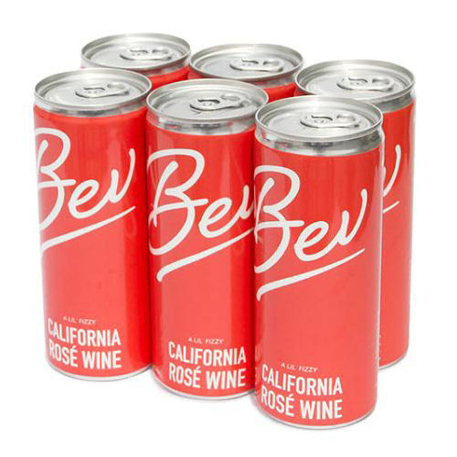 Bev California Rose Wine 6-Pack 250ml Can