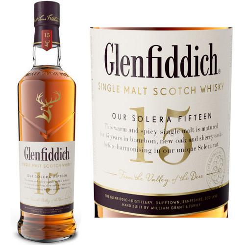Glenfiddich Unique Solera Reserve 15 Year Old Speyside Single Malt Scotch 750ML