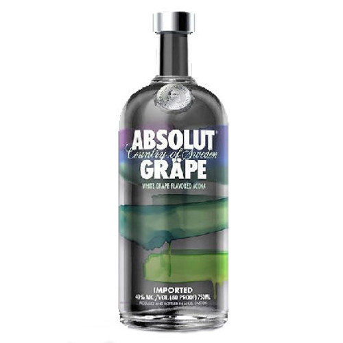 Absolut Grape Swedish Grain Vodka 750ML