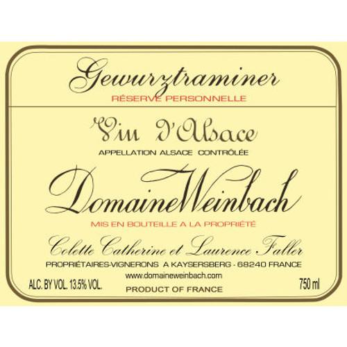 Domaine Weinbach Alsace Gewurztraminer Reserve Personnelle