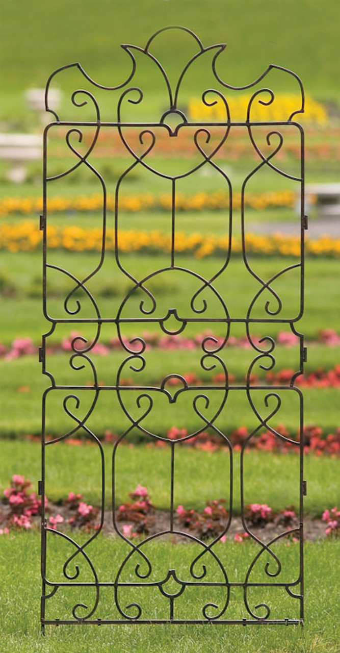H Potter Wrought Iron Large Metal Ornamental Trellis - Weather ...