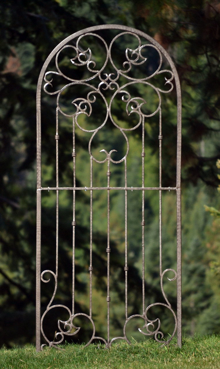 H Potter Wrought Iron Ornamental Metal Scroll Garden Trellis