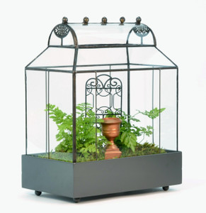 Table Top Barrel Roof Terrarium by H Potter