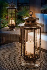 H Potter Hurricane Candle Lantern for Indoor Outdoor