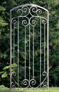 H Potter Large Garden Trellis Wrought Iron Heavy Scroll Metal  Patio & Wall Decor Screen