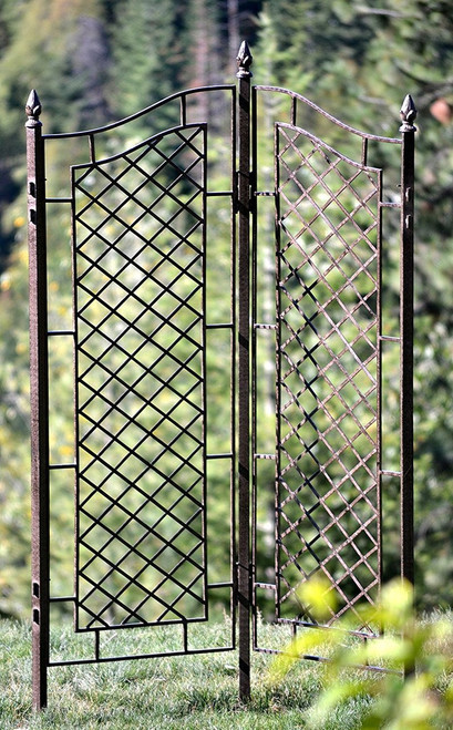H Potter Two Panel Trellis Wrought Iron Ivy Garden Screen