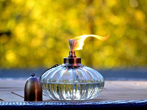 H Potter Outdoor Deck Torch - Garden Patio Table Top Torch - Outdoor Lighting