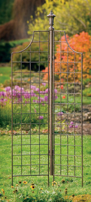 H Potter Two-panel Garden Screen Trellis Weather Resistant Wrought Iron Large