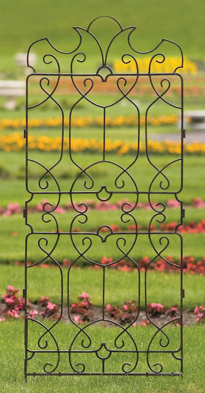 H Potter Trellis Wrought Iron Large Metal Yard Art Wall Art