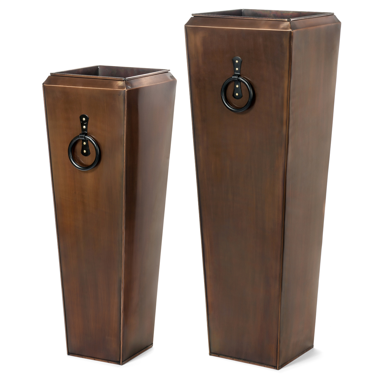 H Potter Tall Outdoor Planters Antique Copper   Set Of Two