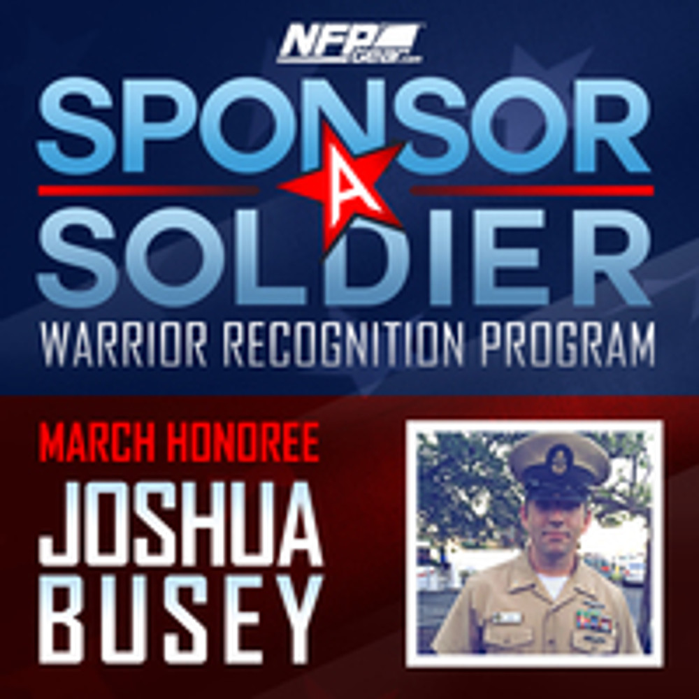 SPONSOR A SOLDIER WARRIOR RECOGNITION: Navy Chief Joshua Busey