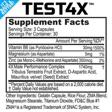 Test 4X™ - Testosterone Booster