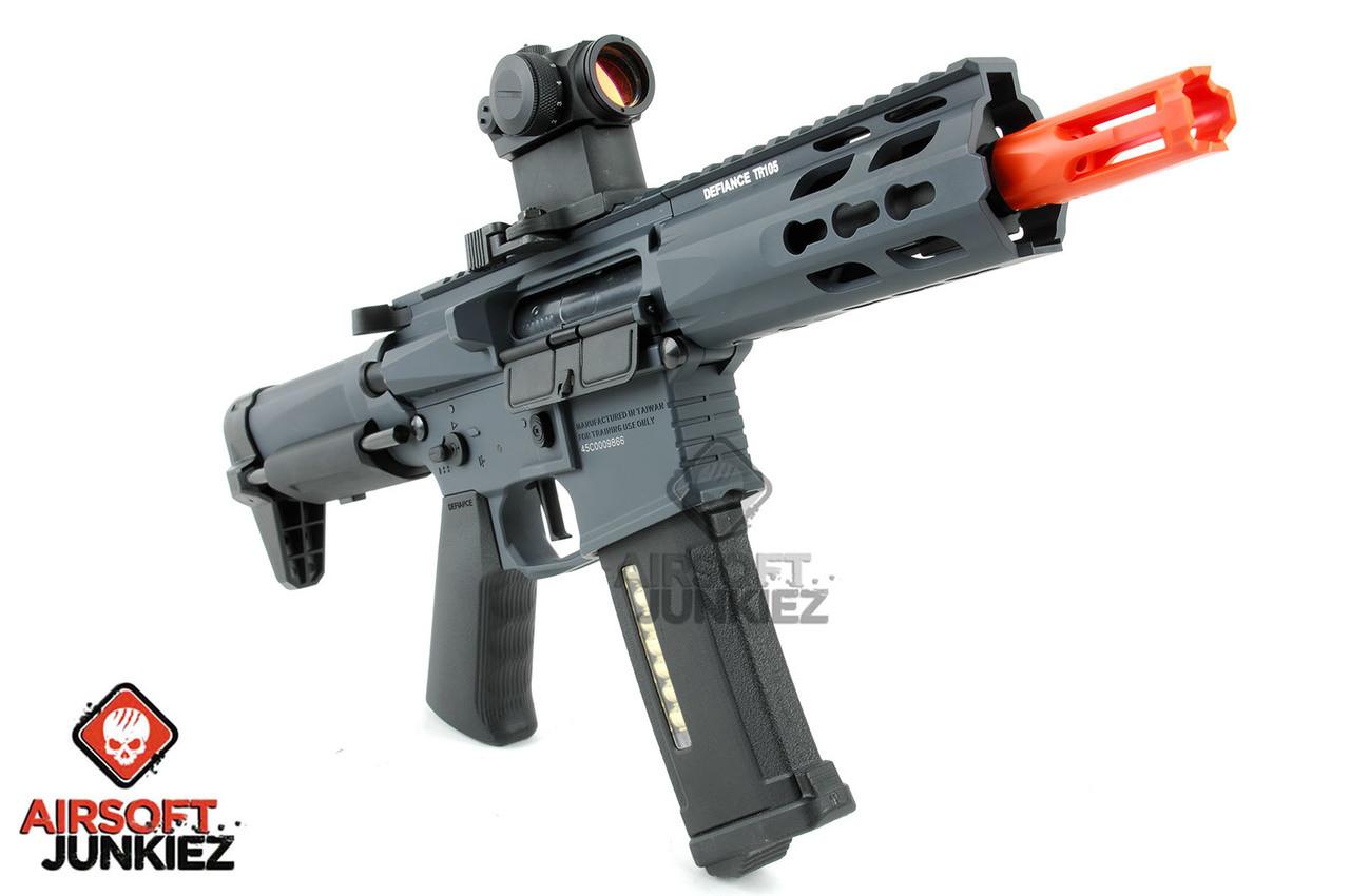 Krytac Full Metal Trident PDW Airsoft AEG Rifle - Wolf Grey Edition