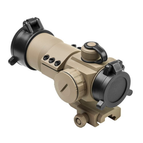 NcSTAR 1x35 Red/Green/Blue Dot Scope Sight -- Tan