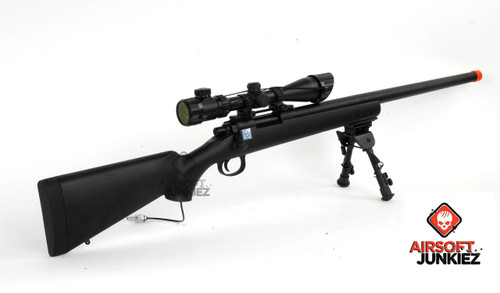Airsoftjunkiez Full Metal Precision Sniper Rifle (Wolverine Bolt System)(Black)