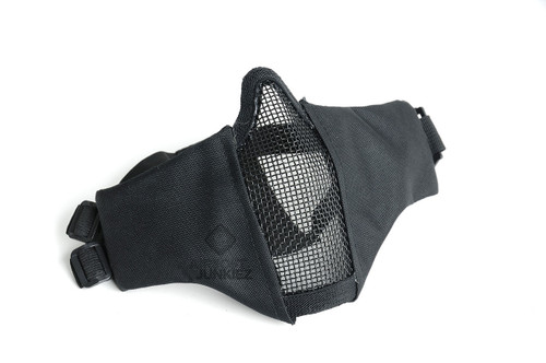 Mesh Foldable Lower Half Face Mask  - Black
