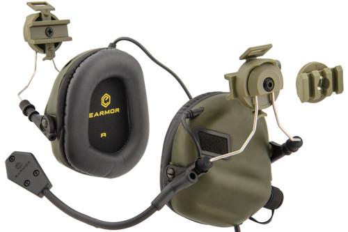 Earmor M32H Headset for Helmets (Foliage Green)