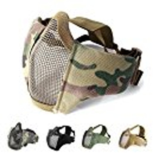 Mesh Foldable Lower Half Face Mask  - MC