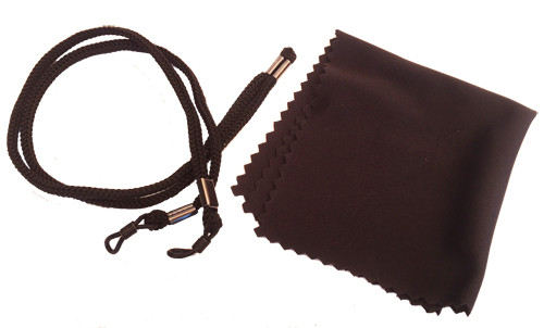Laser safety eyewear cleaning cloth & adjustable head strap