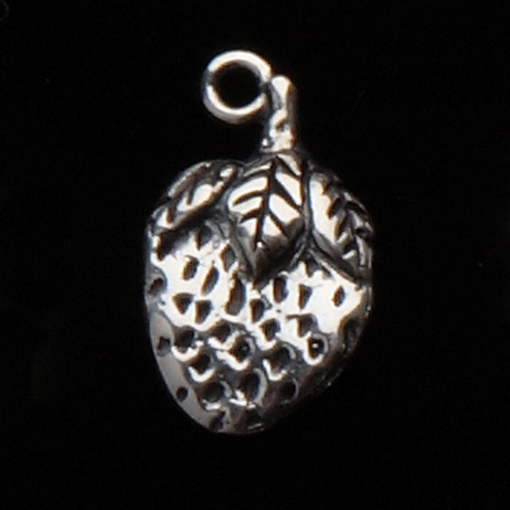 Sterling Silver Strawberry Symbol Charm